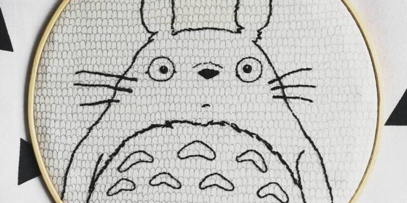 Totoro bordado